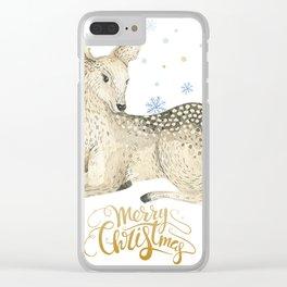 Christmas deer #1 Clear iPhone Case