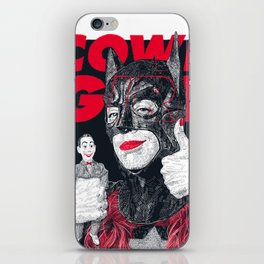 Cowl Girl Design (white) by Guillaume Morellec  iPhone Skin