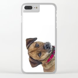 Puppy Dog Eyes Clear iPhone Case