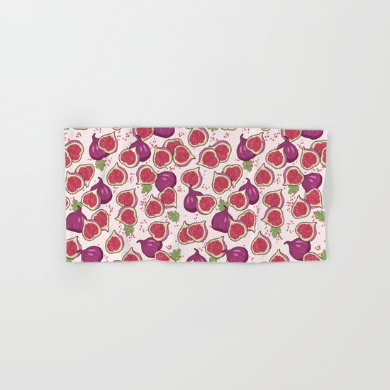 fig pattern Hand & Bath Towel