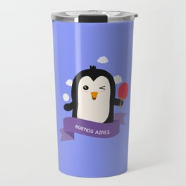 Penguin table tennis from BUENOS AIRES T-Shirt Travel Mug