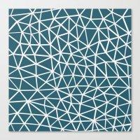 Segment Blue Canvas Print