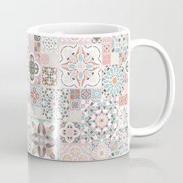 Moroccan Tile Pattern with Rose Gold Coffee Mug