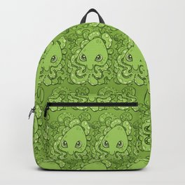 Happy Octopus Squid Kraken Cthulhu Sea Creature - Green Backpack