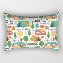Cute Retro Vintage Camper Pattern Rectangular Pillow