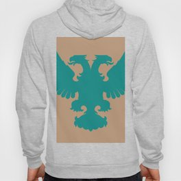 double-headed eagle on brown background Hoody