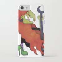 witch iPhone & iPod Cases featuring Witch by Iribú