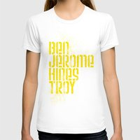 caleb troy T-shirts featuring Ben Jerome Hines Troy / Black by Brian Walker