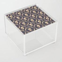 Happy halloween skull pattern Acrylic Box