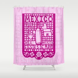 Mexican Paper Shower Curtain