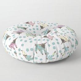 Pajama'd Baby Goats - Blue Floor Pillow