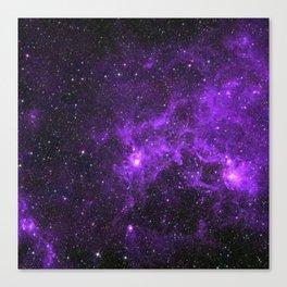 Ultraviolet Space Nebula Canvas Print
