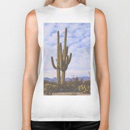Cactus at Dusk Biker Tank