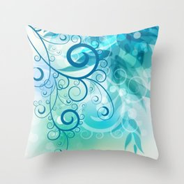 Remolino floral Throw Pillow