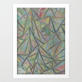 2D Mountain Range Art Print