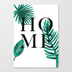 Home palm leaves Canvas Print