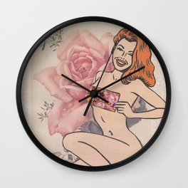 Ginger Rose Wall Clock