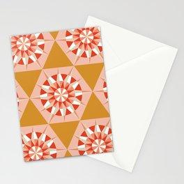 Kaleidoscope Retro Mustard Stationery Cards