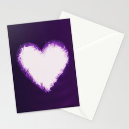 Heart of Purple Stationery Cards