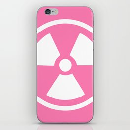 Pink Radioactive Symbol iPhone Skin