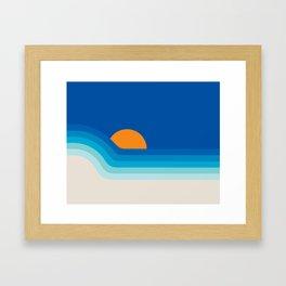 Ocean Dipper Framed Art Print