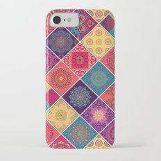 Red Boho Patchwork Quilt Slim Case iPhone 7