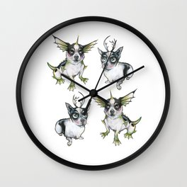 Ledge with antlers black lagoon combo Wall Clock