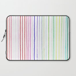 RAINBOW WATERCOLOR LINES Laptop Sleeve