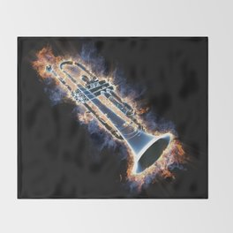 Fire trumpet in concert Throw Blanket
