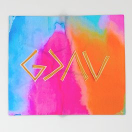 God Is Greater Than The Ups and Downs- Mix ORANGE Throw Blanket