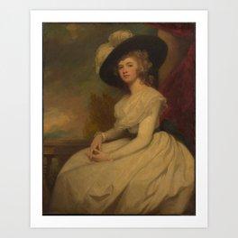 Mrs. Bryan Cooke , George Romney Art Print