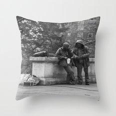 Casual Encounters Throw Pillow