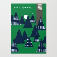 camping Canvas Prints featuring Camping by pegeo