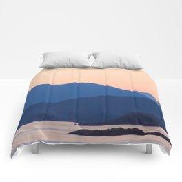 Cool Mountains & Warm Skys Comforters