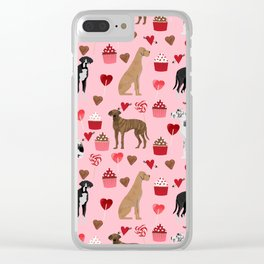Great Danes dog breed valentines day dog must have great dane gifts Clear iPhone Case