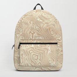 Butterscotch Silk Moire Pattern Backpack