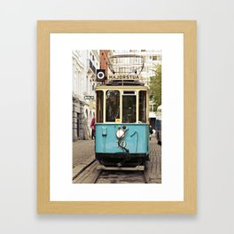 the tram Framed Art Print