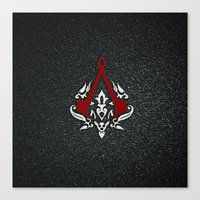 assassins creed Canvas Prints featuring Creed Assassins  by neutrone