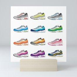Colorful Sneaker set illustration original pop art graphic print Mini Art Print