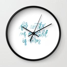 Isaiah 9:6 Wall Clock