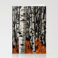 birch Stationery Cards featuring Birch by LeahOwen