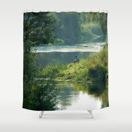 Talking to the Nature Shower Curtain