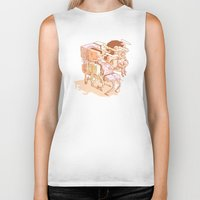party Biker Tanks featuring party by Ben Bauchau