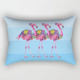 A Small Flock of Flamingos Rectangular Pillow