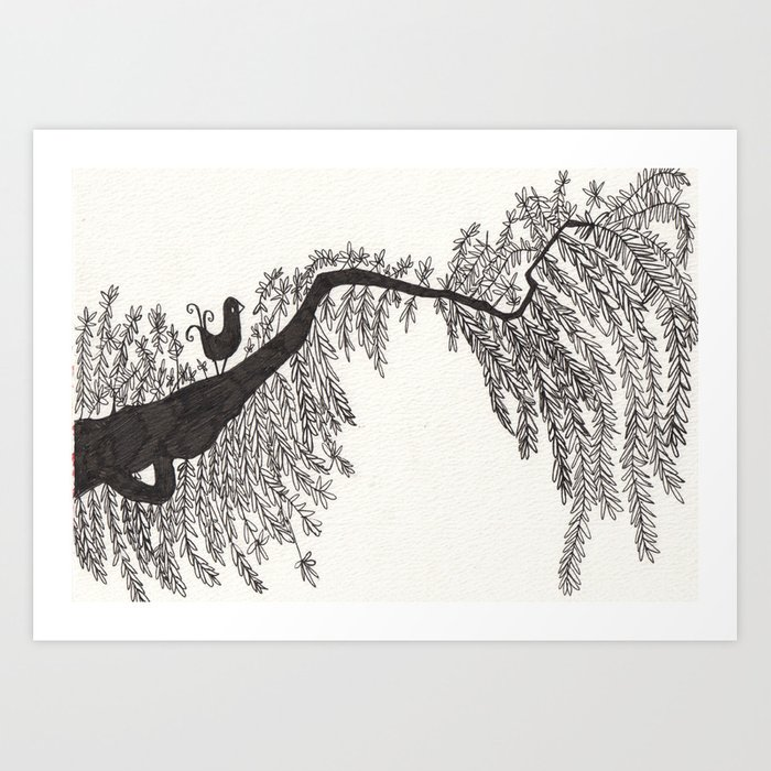 the songbird and a tree Art Print