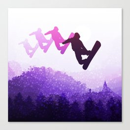 Snowboard Skyline IV Canvas Print