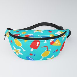Summer Sweet Treats and Party Drinks Pattern Fanny Pack