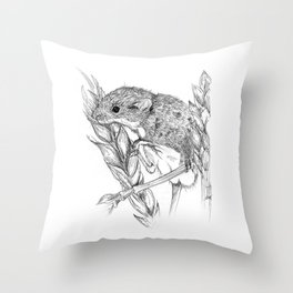 Harvest mouse Throw Pillow
