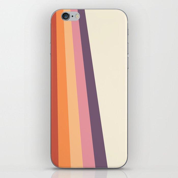 Velvet Morning Retro Stripes iPhone Skin