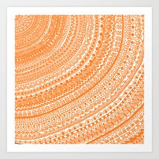 Orange Pulse o3. Art Print